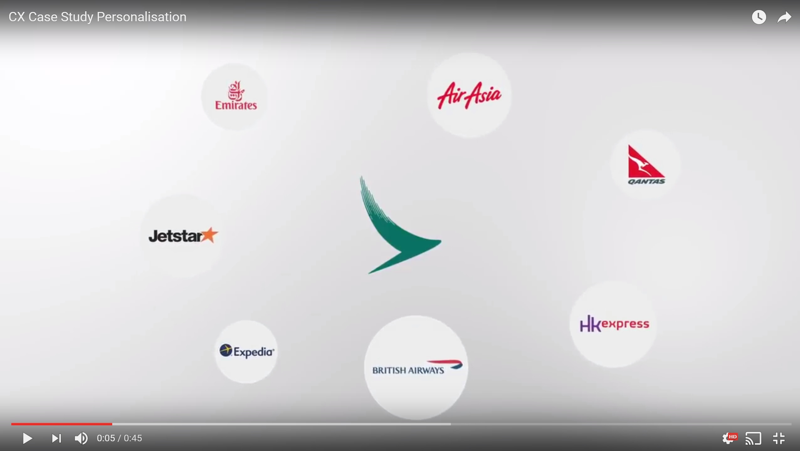 Cathay Pacific Personalisation